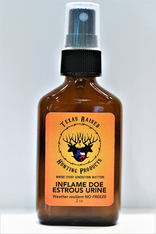 Inflame Doe Estrous Urine - Texas Raised Bottled Scent Urine - Hunt Lab Technologies