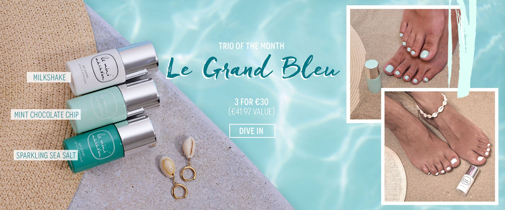 Le Grand Bleu Trio of July Gel Nail Polish