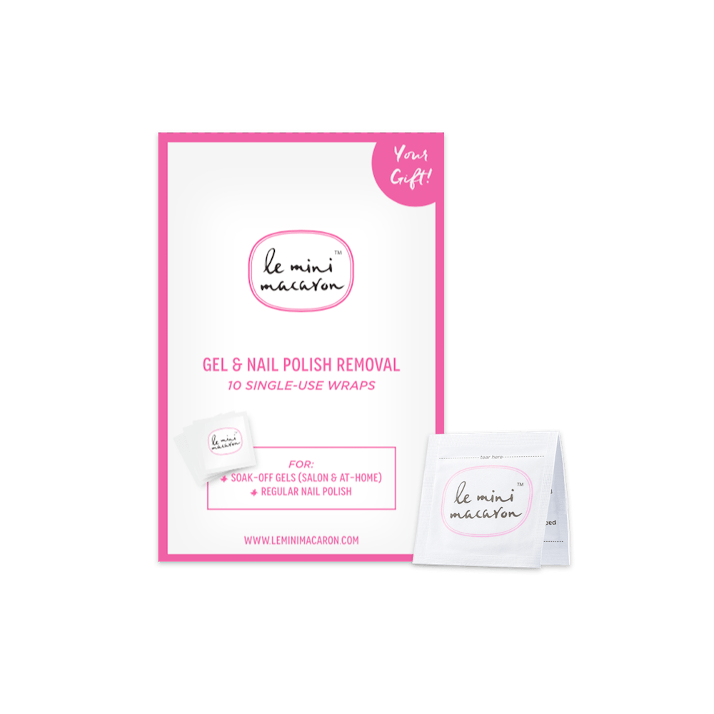 Gel Removal Wraps (Single Use) Le Mini Macaron Europe