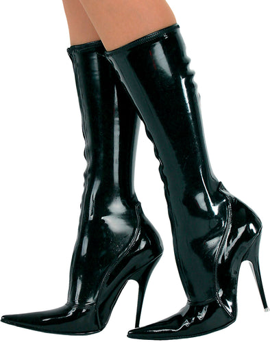Latex knee boots