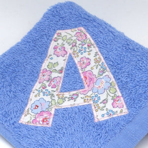 Blue Towels with Liberty letters