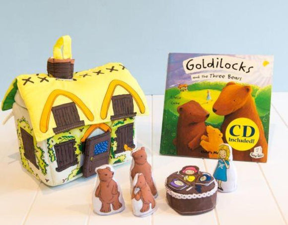 Goldilocks and the three bears playset
