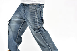Men's Baggy Blue Jeans