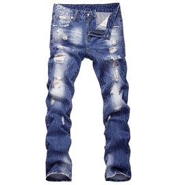 Casual Patch Men Trouser Jeans