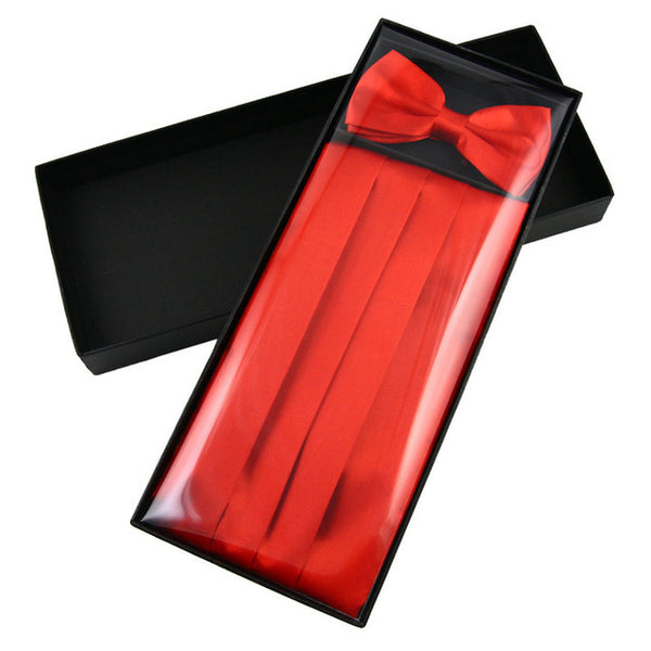 Men's Satin Bow Tie Set