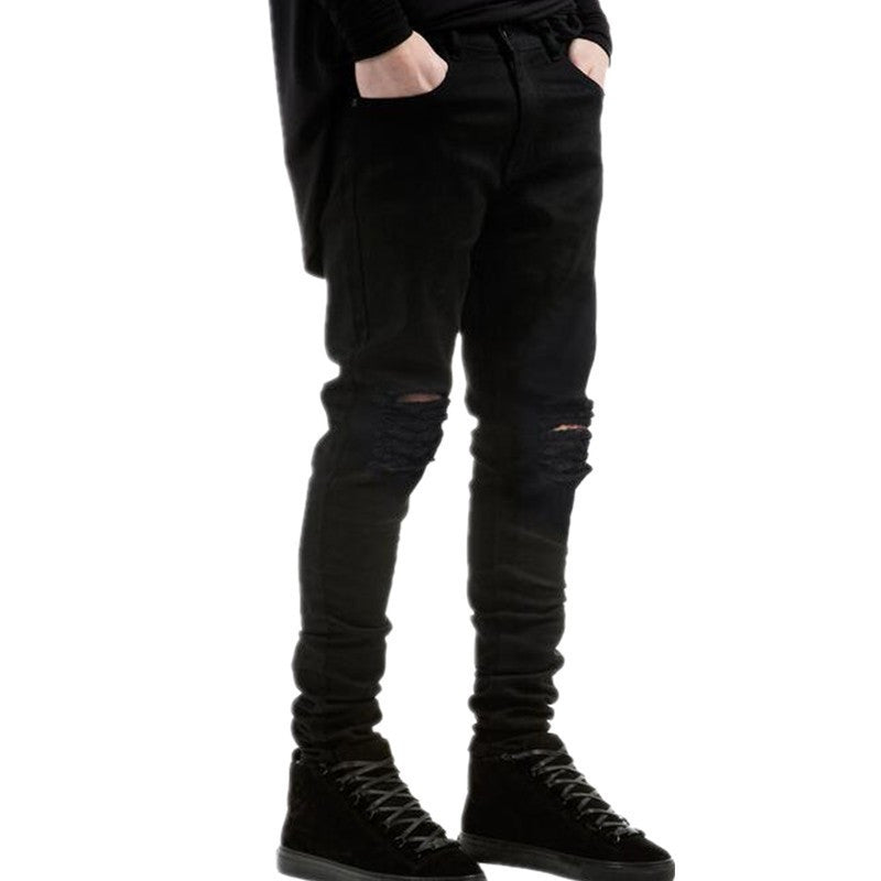 Black Ripped Crazy Jeans
