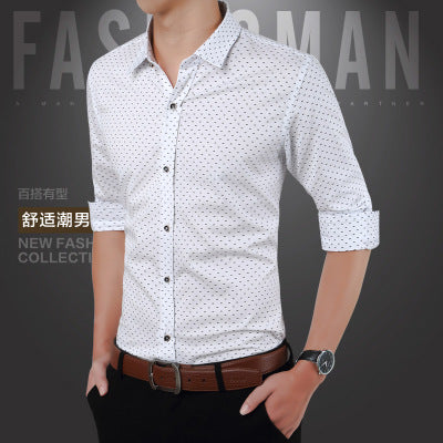Fashion Men Long Sleeve Dresss
