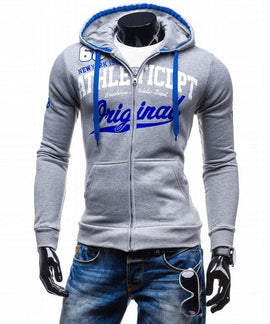 Letter Hooded Long Zipper