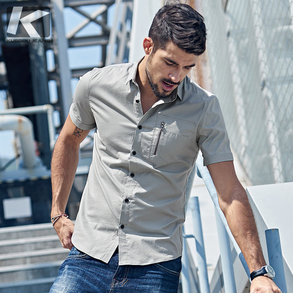 Patchwork Men Short Sleeve Cloth