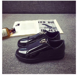 Glossy Slip-on Casual Men Footwear