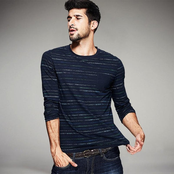 Striped Fashion Men T-Shirts