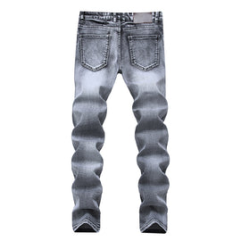 Pleated Stretch Men Jeans