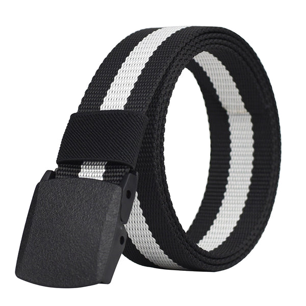 Striped Canvas Men Belt