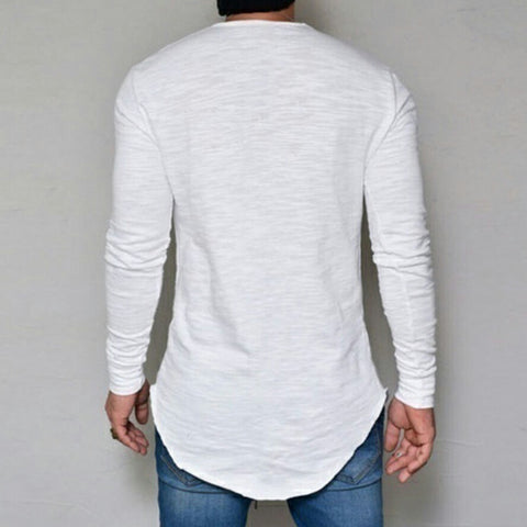 Design Men Casual Long Sleeve Shirt