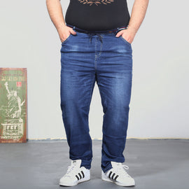 Casual Men Elastic Waist Jeans