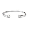 Silver Torc Bangle for Women