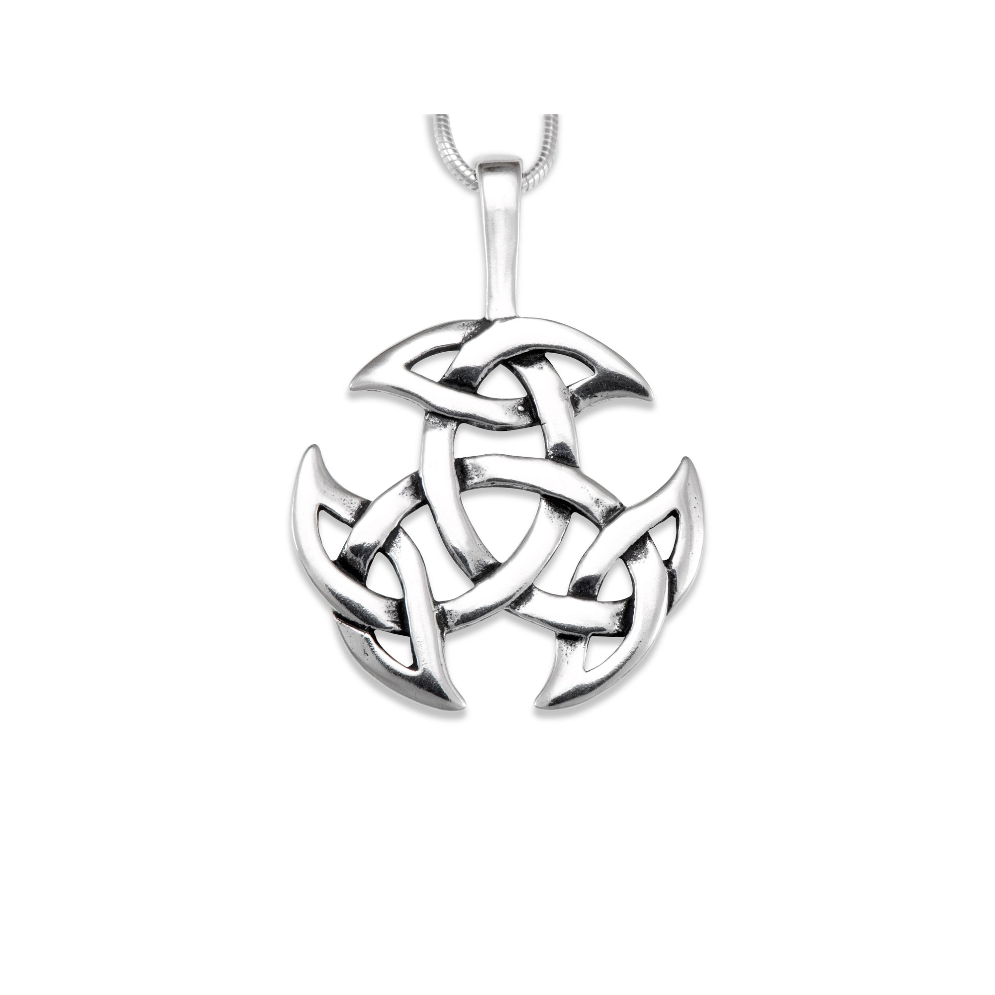 set eu silver pendant sterling trinity gold diamond knot product
