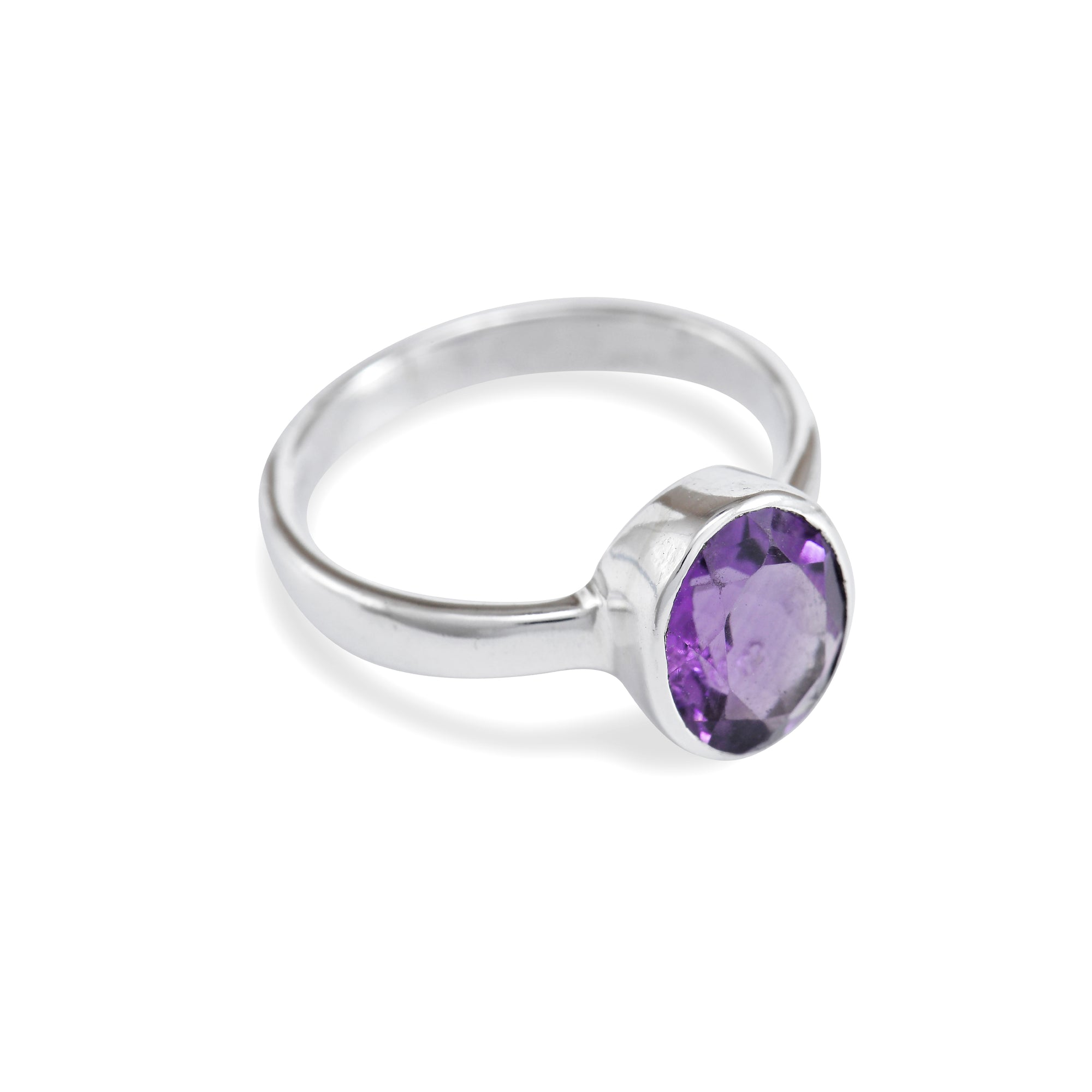 Facetted Amethyst Ring
