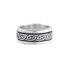 Celtic spin silver ring no1