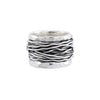 Silver Wire Ring with Rim