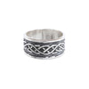 Silver ring with Celtic knot design