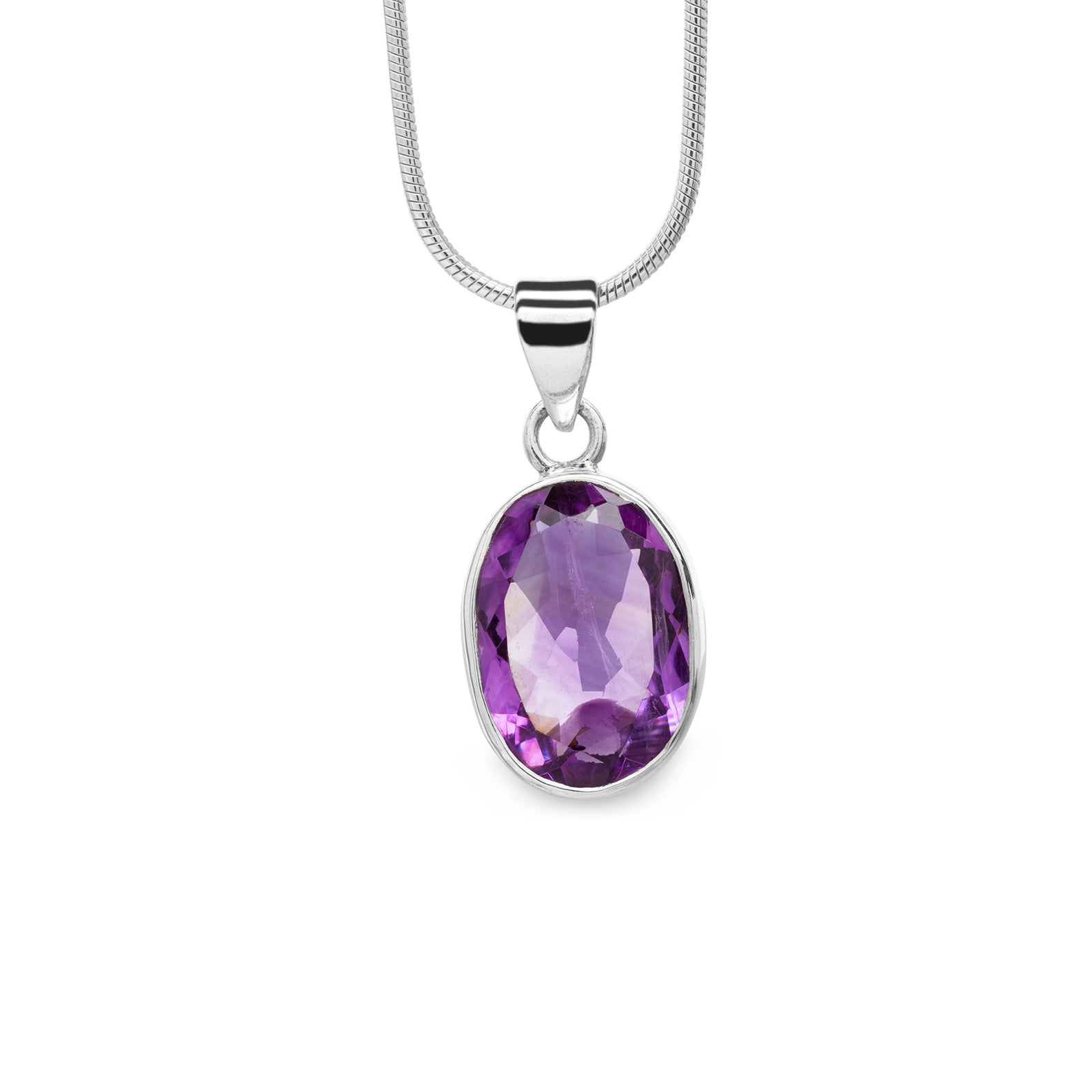 Amethyst Pendant (faceted)