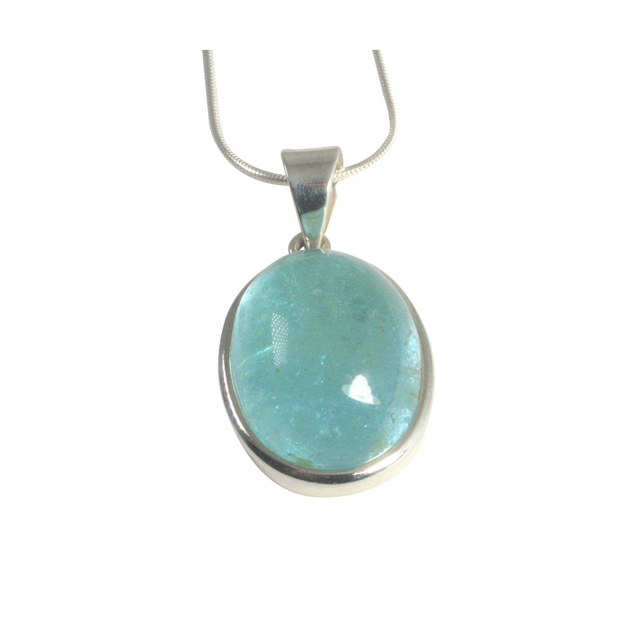 pendant blue topaz in sterling silver necklace