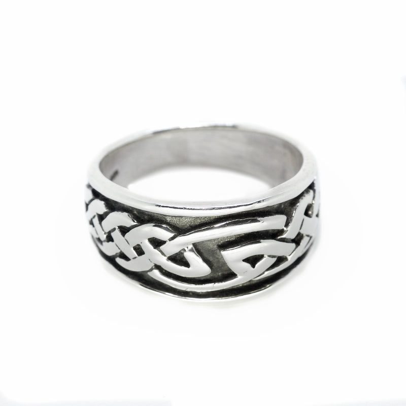 Silver Celtic Knot Ring - New Moon