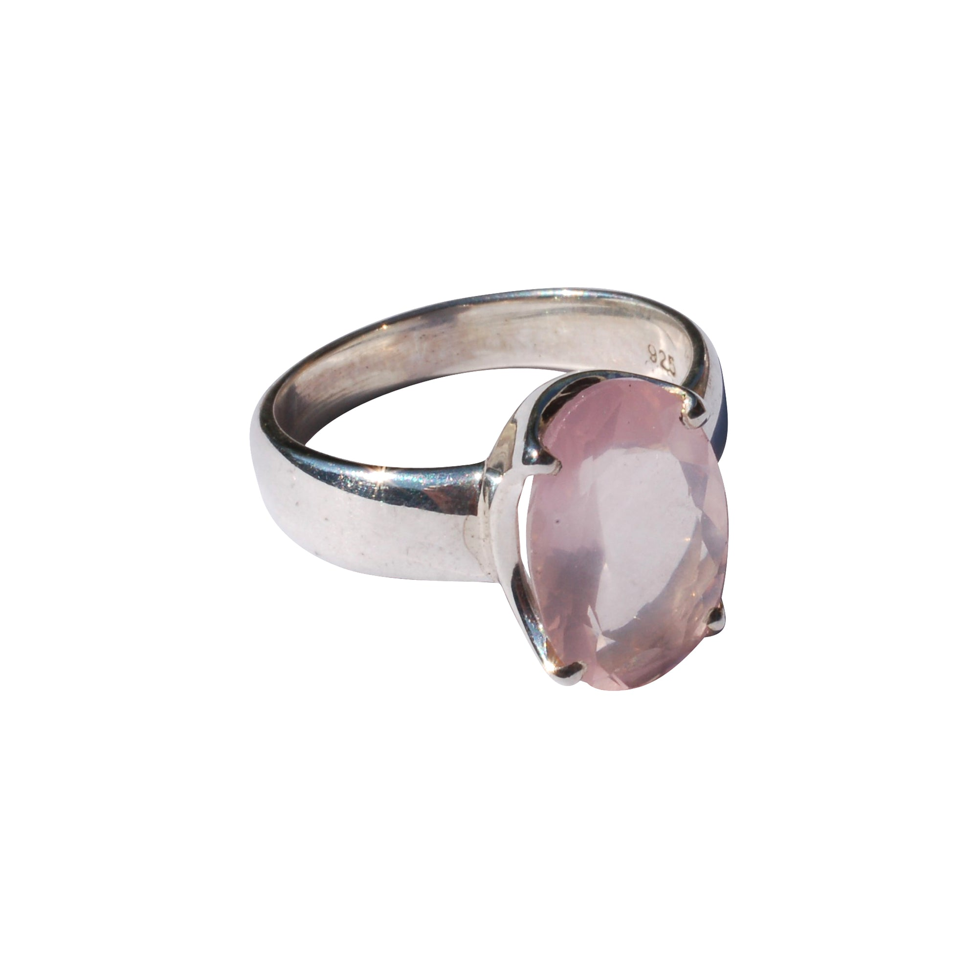Rose quartz ring medium