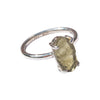 Moldavite ring small