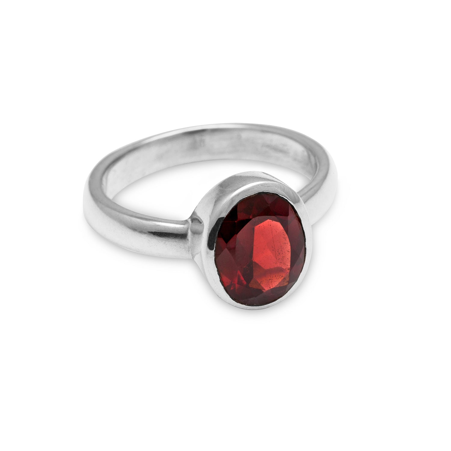 Facetted Garnet Ring