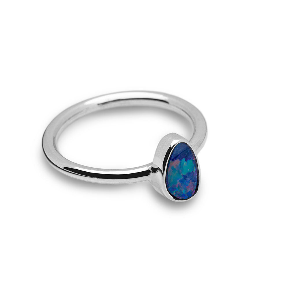 Australian Opal Ring (thin band)