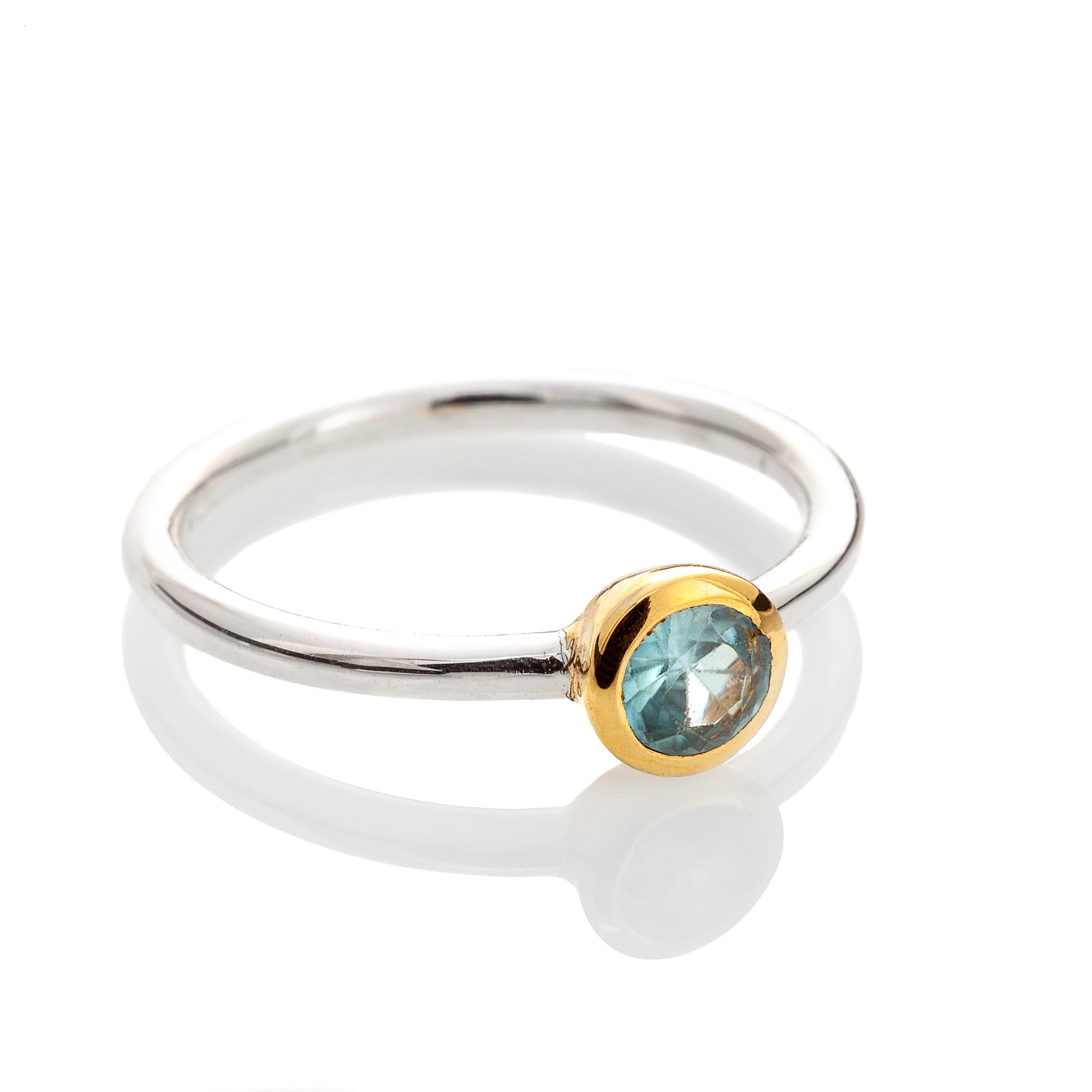 Aquamarine Ring (thin band)
