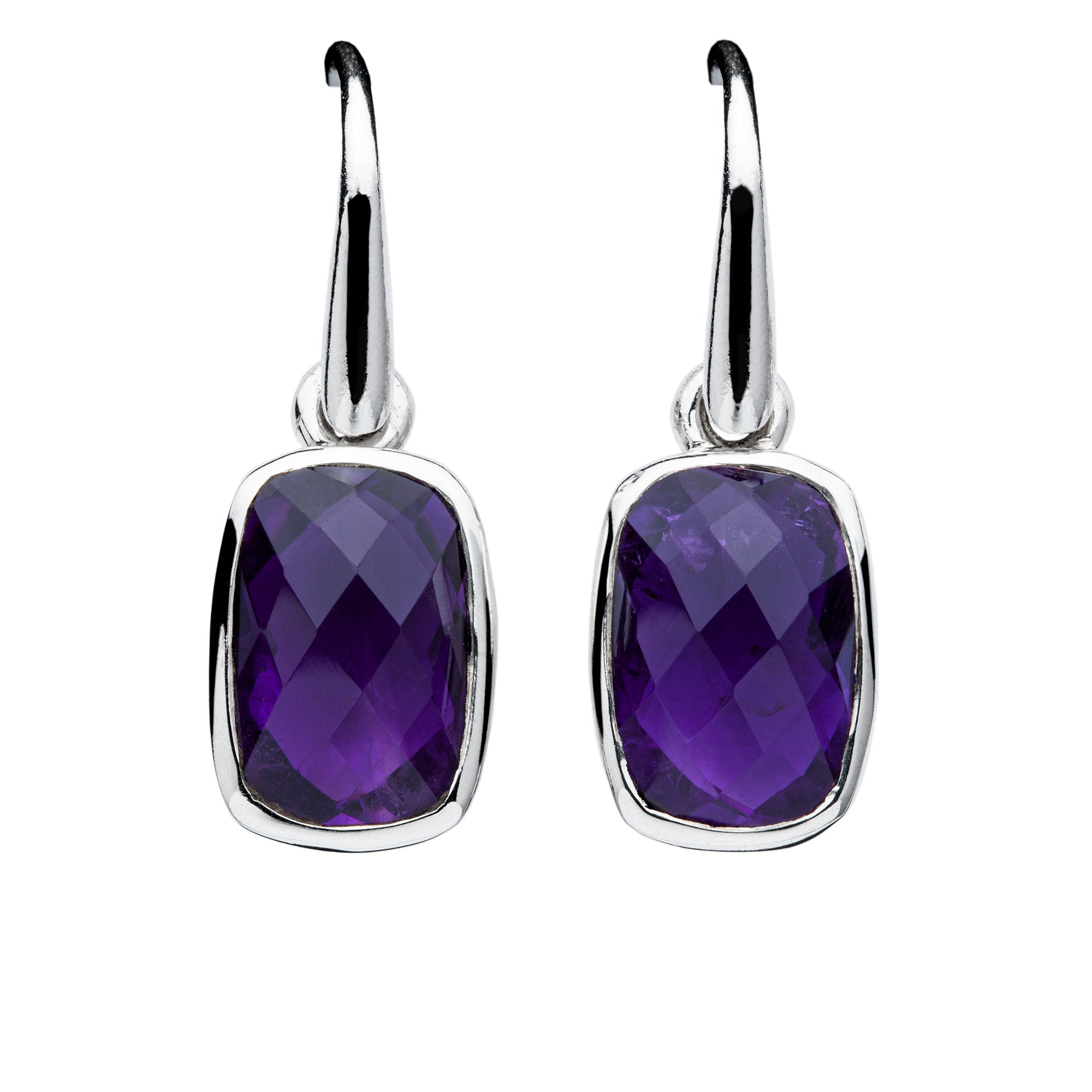 Amethyst Earrings (facetted)