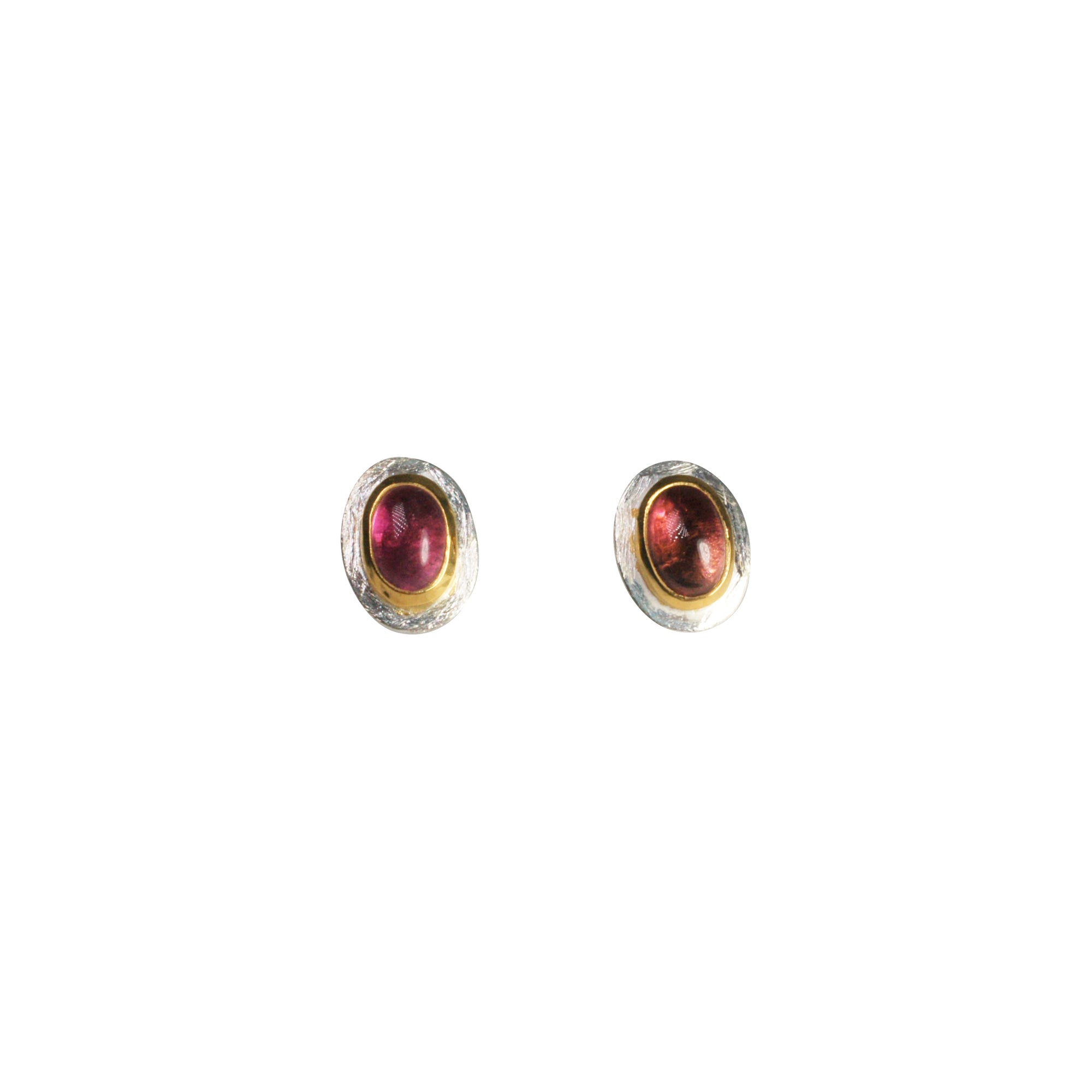 Rubellite Stud Earrings