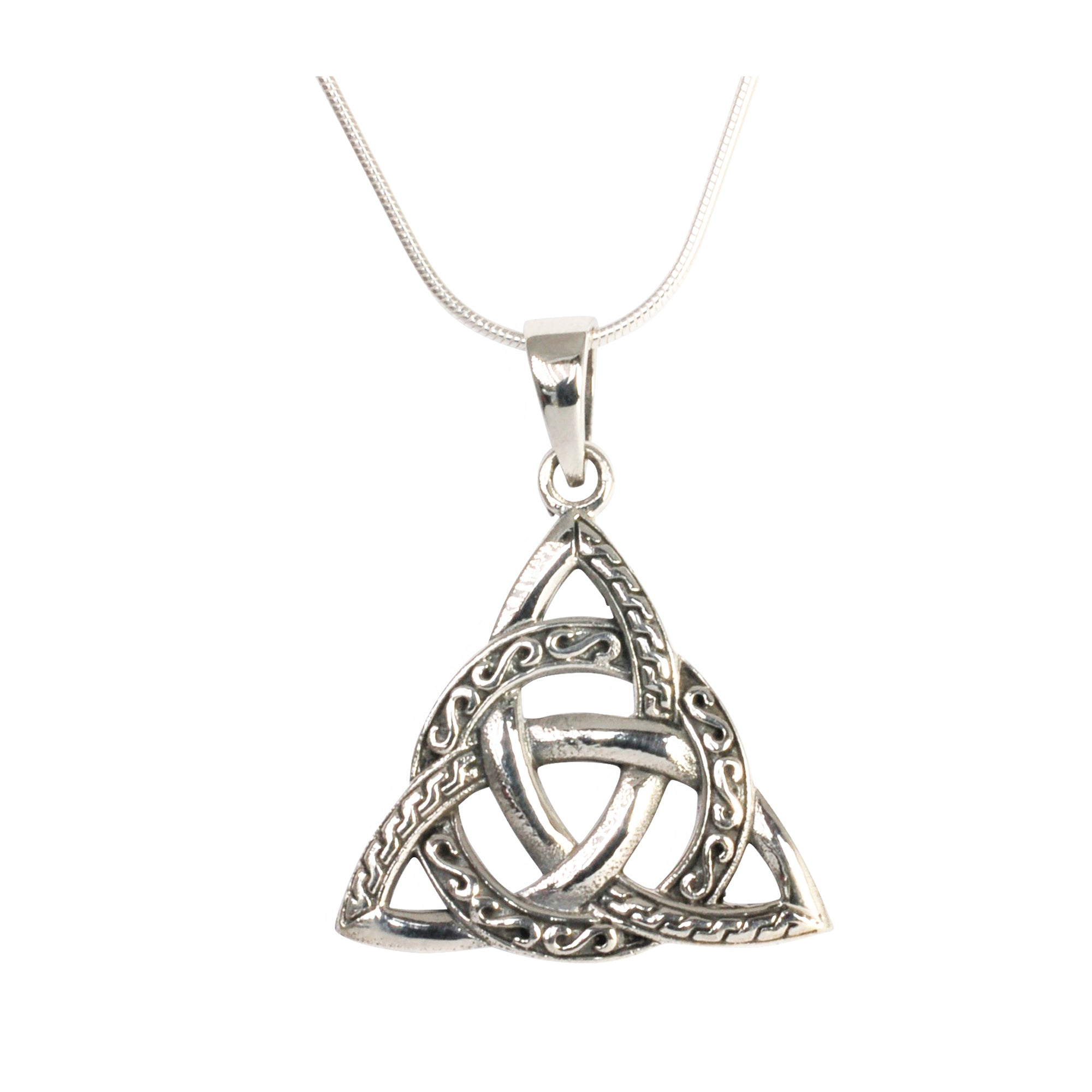 pendant knot eu product trinity set silver sterling diamond gold