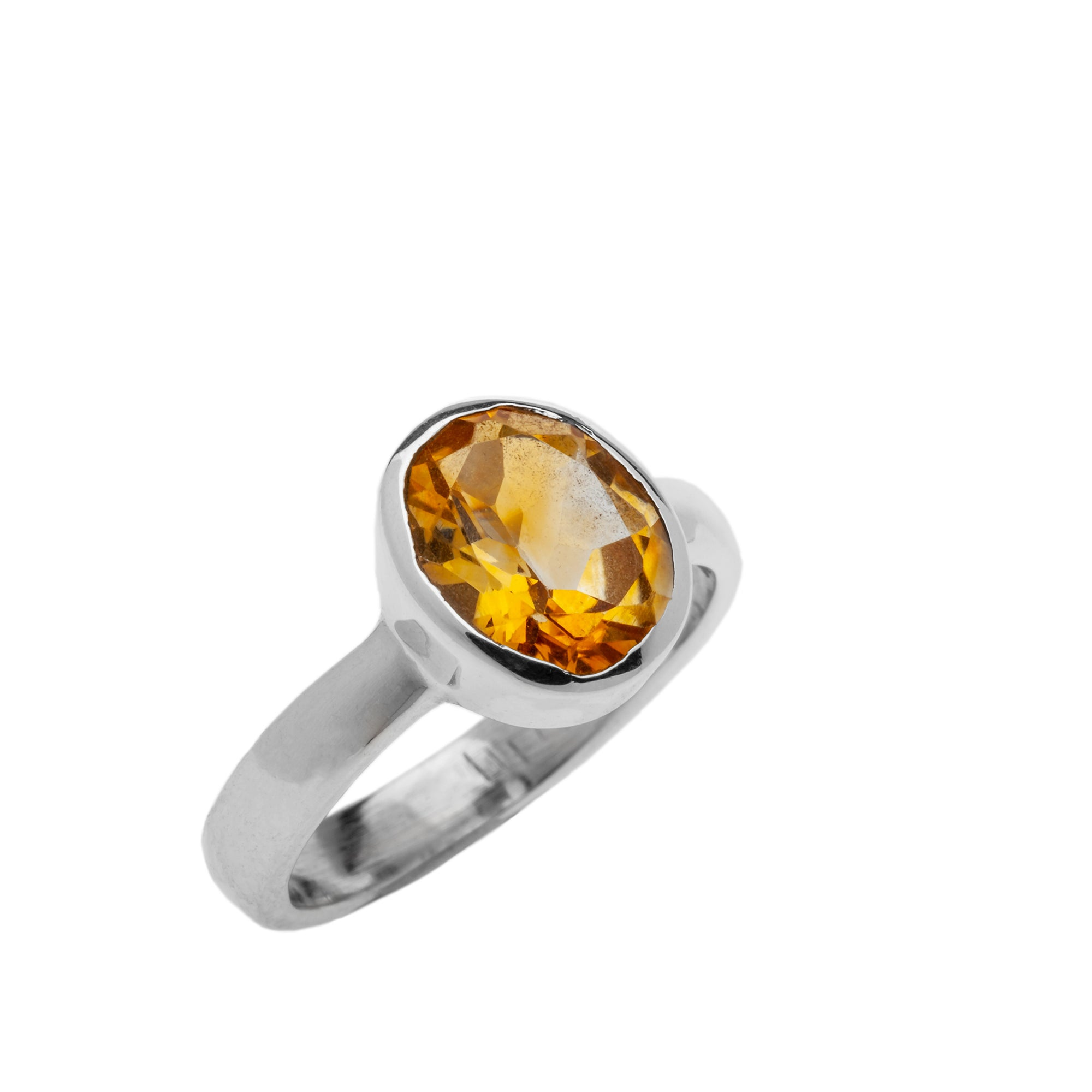 Facetted Citrine Ring