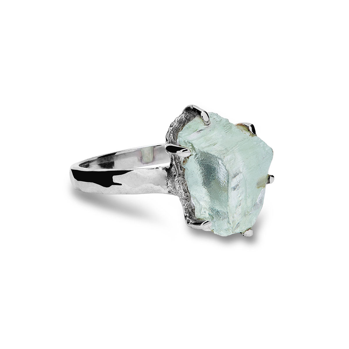 Hiddenite Crystal Ring