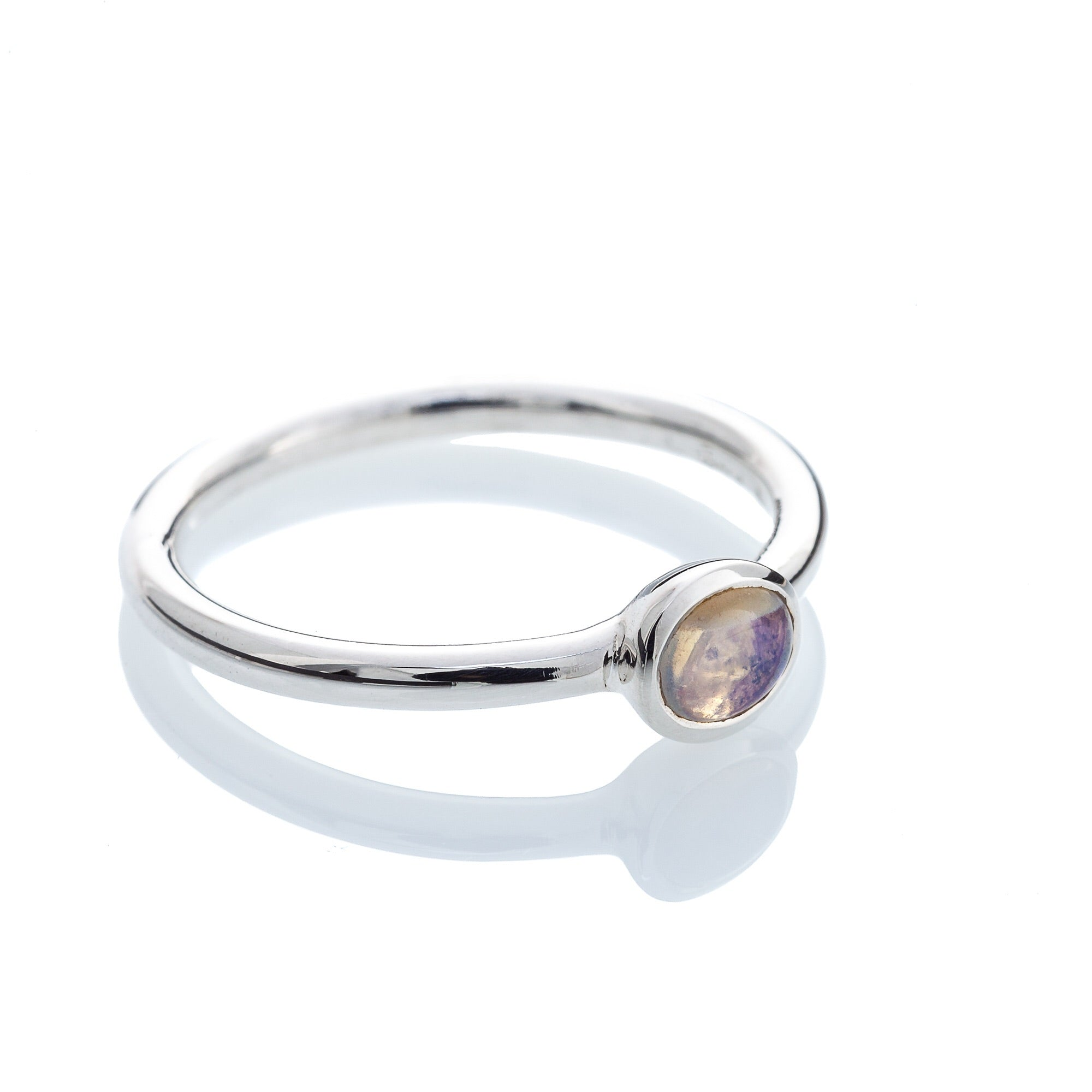 Opal Ring (thin band)