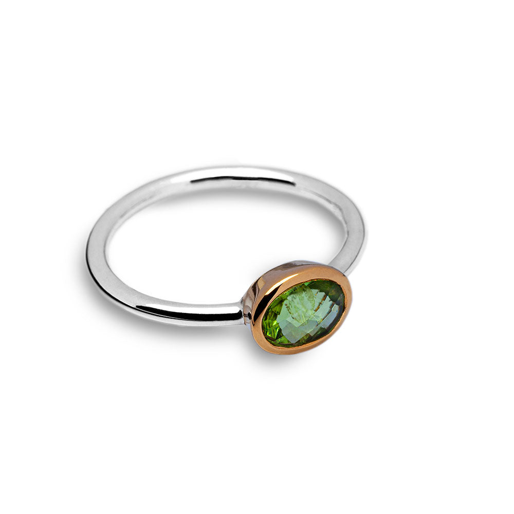 Peridot ring (thin band)