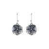 Small flower silver earrings