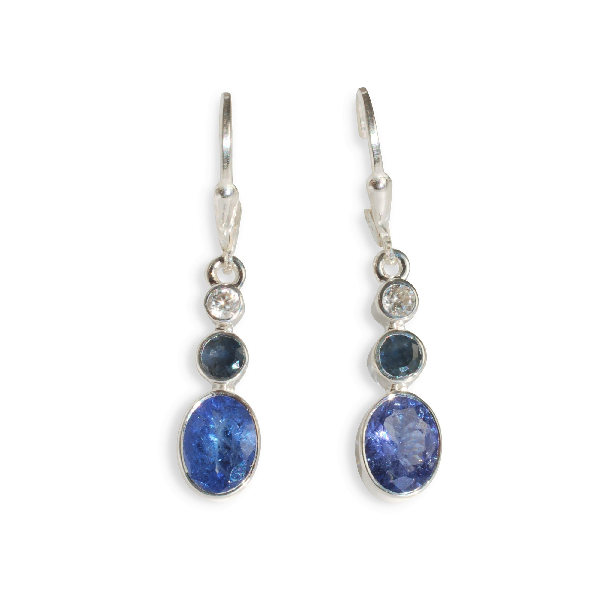 with diamonds in tanzanite white gold tw earrings
