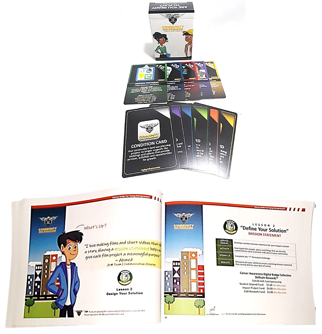 Money Guide for Young Entrepreneurs Activity Workbook & Card Game Set
