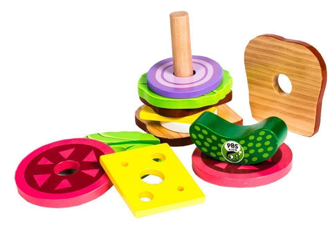 PBS Kids: Wooden Sandwich Stacker