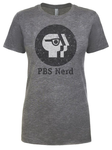 Ladies' Gray PBS Nerd Short Sleeve T-Shirt