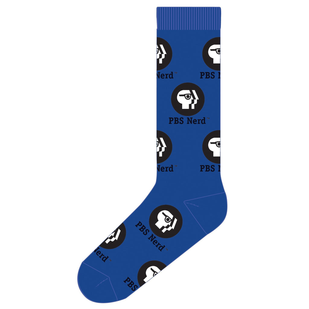 Blue PBS Nerd Dress Socks
