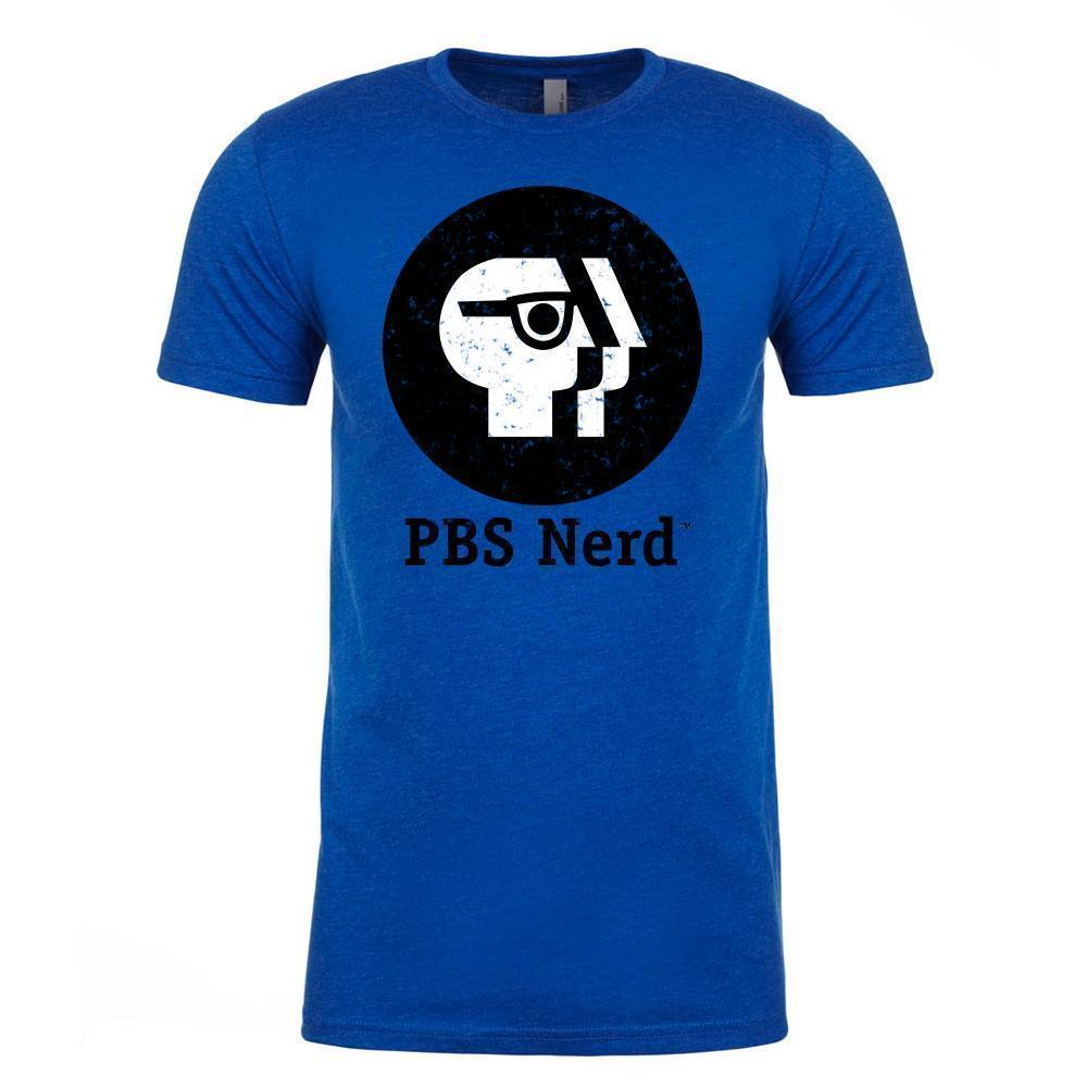 Adult Royal Blue PBS Nerd Short Sleeve T-Shirt