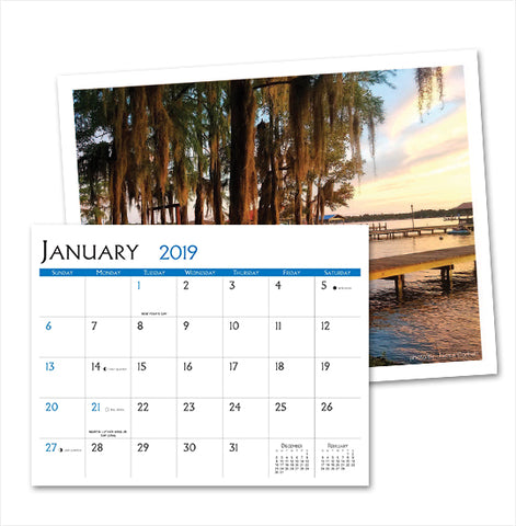 2019 UNC-TV Public Media North Carolina Calendar