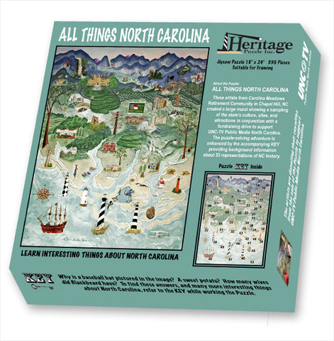 All Things North Carolina Puzzle by Carolina Meadows