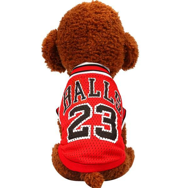 Maillot basketball balls rouge pour chien